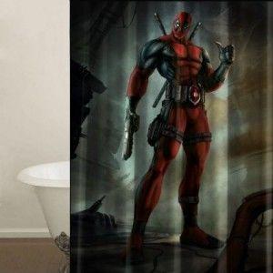 Deadpool Shower Curtain Bathroom Decor