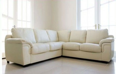 Awsome Avon Cream Leather Corner Sofa
