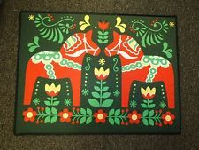 Scandinavian Swedish Dala Horse Door Mat Rug #432