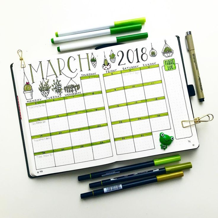Round up of the Top 8 Green Bullet Planner pages from this week