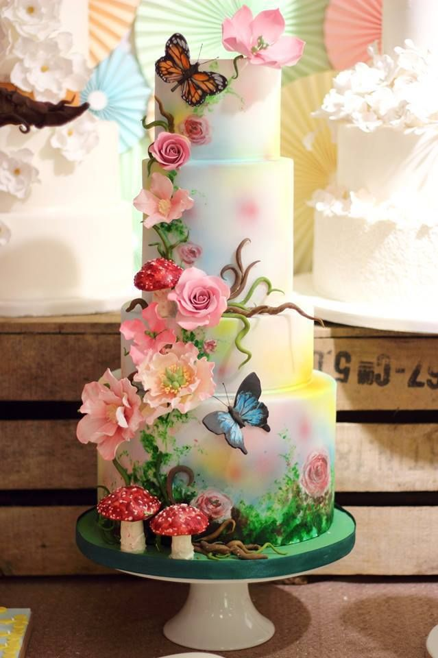 Floral Cake - For all your cake decorating supplies, please visit craftcompany.co.uk