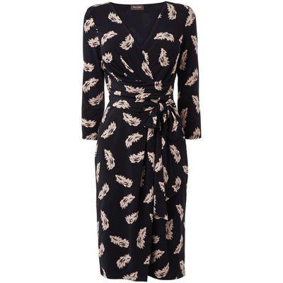 Damen Kleid, gemustert, schwarz/weiß, zoom