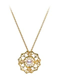 Lace Pendant Yellow Gold