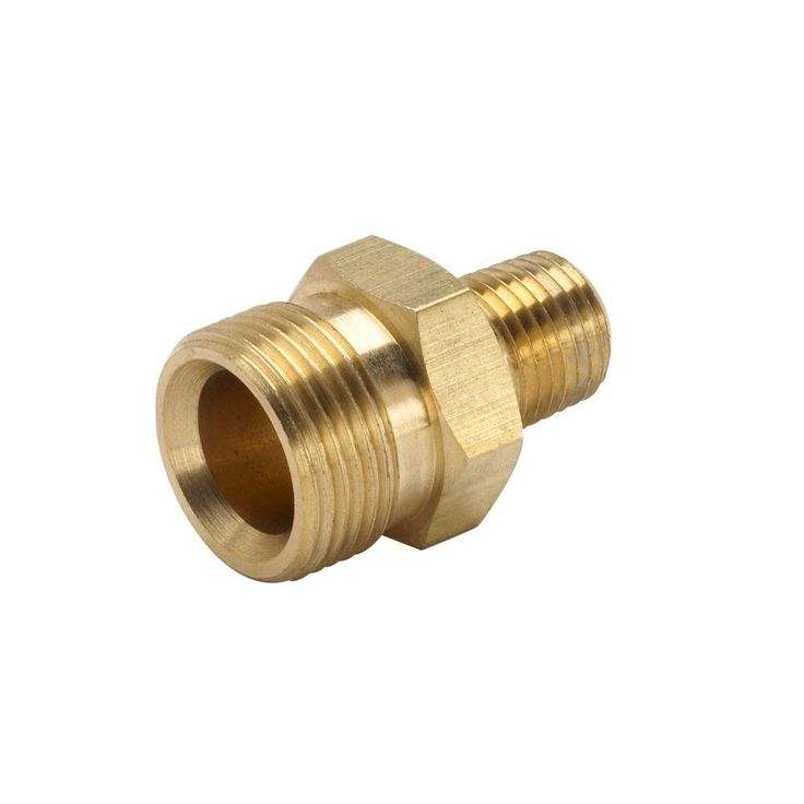 Power Care 3/8 in. Male NPT x Male M22 Pressure Washer Hose to Trigger Coupler