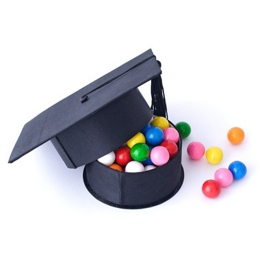 Graduation cap box grad gift. Fill it with their fav. candy and give it along with money/check/gift card. :-)
