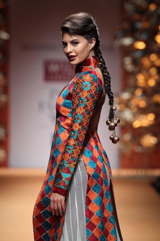 Actress/Model Jacqueline Fernandez walking for Manish Malhotra's Fashion Show