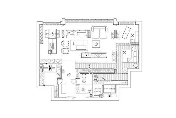 Novopecherskie Lipki Penthouse,Floor Plan