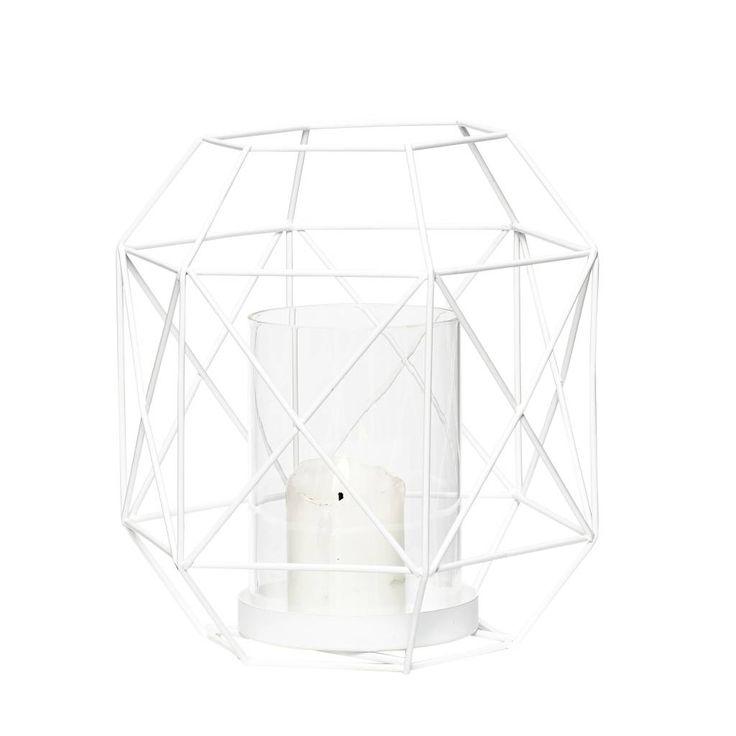 Hübsch lantaarn wit S - Der10 Design - Scandinavische woonaccessoires