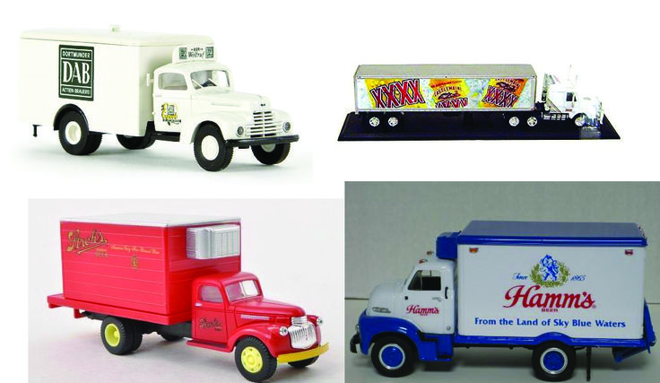 Vintage beer truck collectibles are a cool decorative man cave idea for any beer fan. There are several different brands of these available and they range in size as well as style.