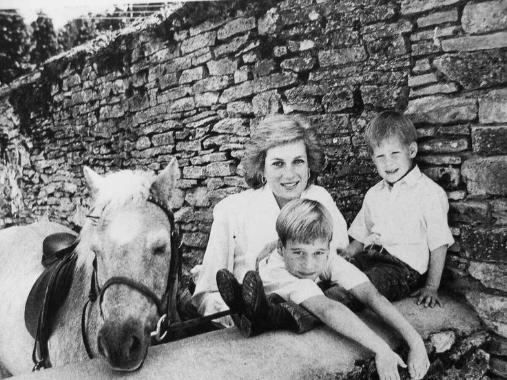 """2,499 Likes, 7 Comments - Princess Diana Forever (@princess.diana.forever) on Instagram: """"1989: A portrait of Princess Diana, age 28, with her sons Princes William and Harry at the family's…"""""""