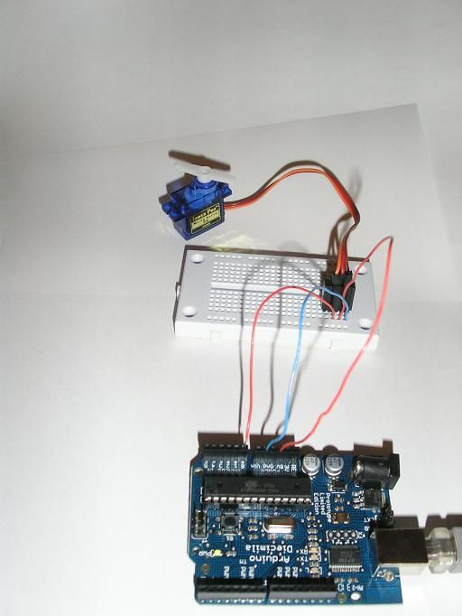 Arduino playground singleservoexample for