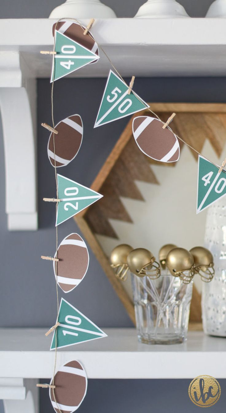 DIY Printable Football garland | Best of 2016: Entertaining – Inspired by Charm
