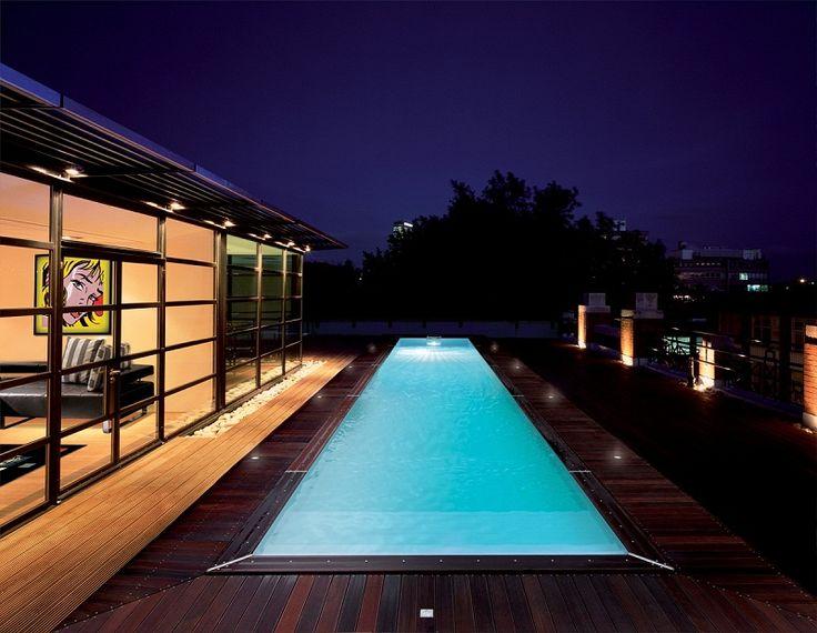 1000 images about piscine de nuit on pinterest night - Piscine ligne de nage ...