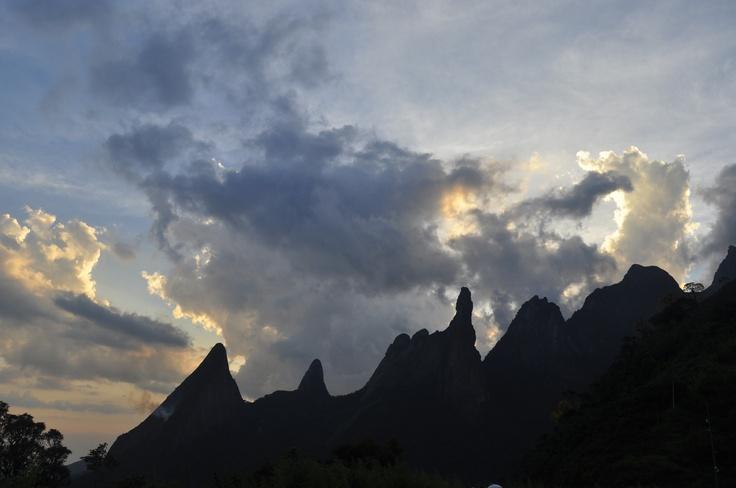 Dedo de Deus nas montanhas da Sera Carioca em Teresopolis (RJ)