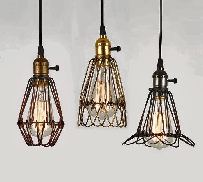 Cheap Light Sockets For Lamps Buy Quality Lamp List Directly From China Led Suppliers Rustic Retro American Style Vintage Iron Cage Pendant