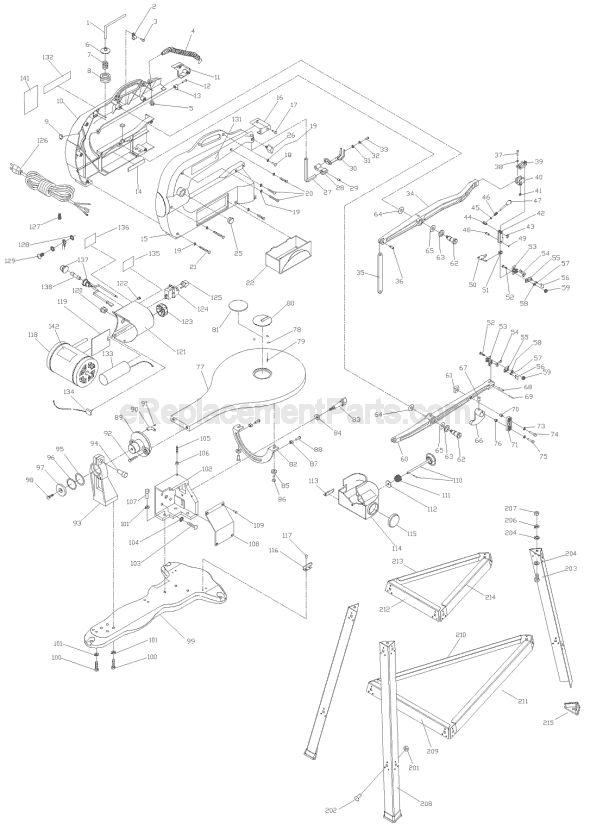 Delta SS350LS Parts List and Diagram - Type 1 : eReplacementParts.com