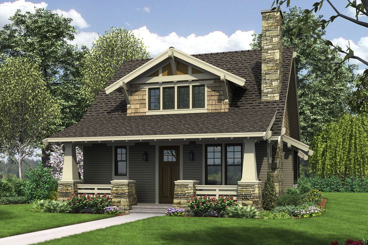 Cottage House Plans Bungalow Style House Plan   Sq Ft