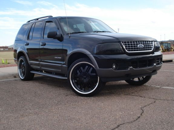 "2004 Ford Explorer ""Black Beauty"" ... ""murdered"" is the new blacked out expression"