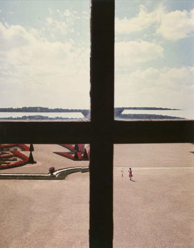 "Versailles, 1977, vintage cibachrome, from the series ""Kodachrome"" and ""Vedute"""