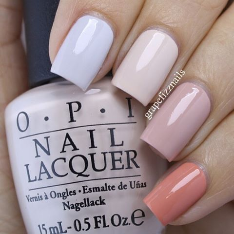 Hey Dolls! As soon as I saw these 4 polishes from the @opi_products Venice Collection, I knew I wanted to do a skittle mani! Starting with my pointer finger the polishes are: I Cannoli Wear OPI, Be There in a Prosecco, Tiramisu for Two and A Great Opera-tunity. @opicanada #opi #opivenice