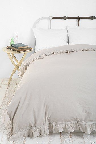 Solid Edge Ruffle Duvet Cover So Pretty For My Dorm Room