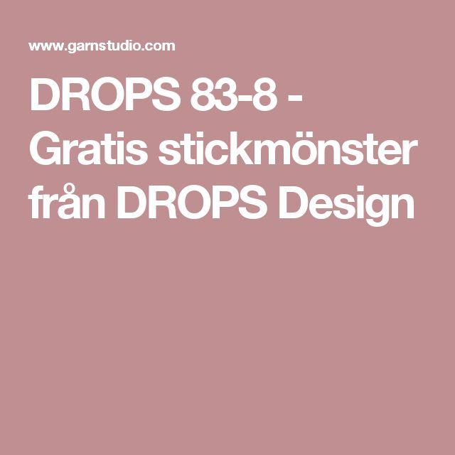 DROPS 83-8 - Gratis stickmönster från DROPS Design