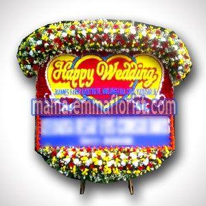 Gambar Karangan Bunga Papan Pernikahan BPWD-19