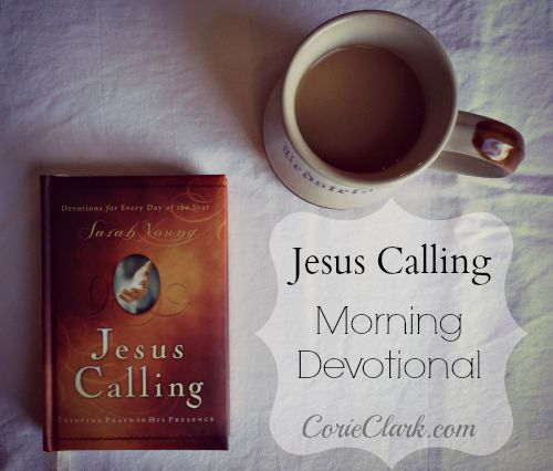 Jesus Calling Devotional  Funny how it speaks to me every time I pick it up