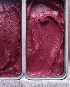 Blueberry Buttermilk Sherbert  Can't wait to pick up some local blueberries at the farmers market to try this