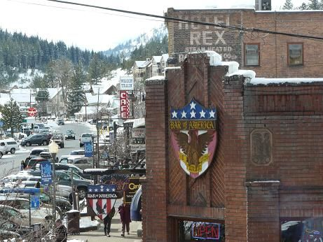 Historic Downtown Truckee Commercial Row, in Truckee, California.