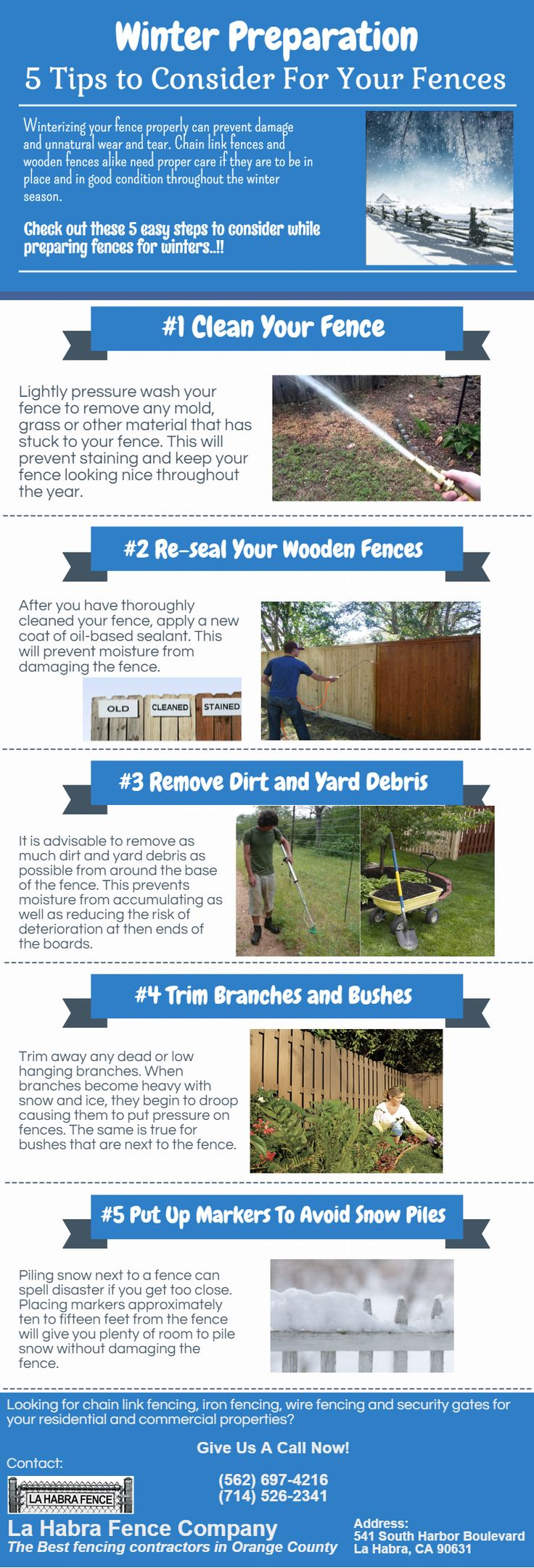 Winter Preparation: 5 Tips to Consider For Your Fences