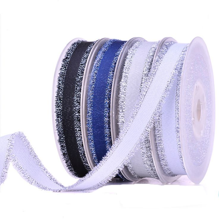 Ribbed Silver Weft Side Ribbon Fabric Ribbon Silver Weft Edge Ribbon Clothing Accessories