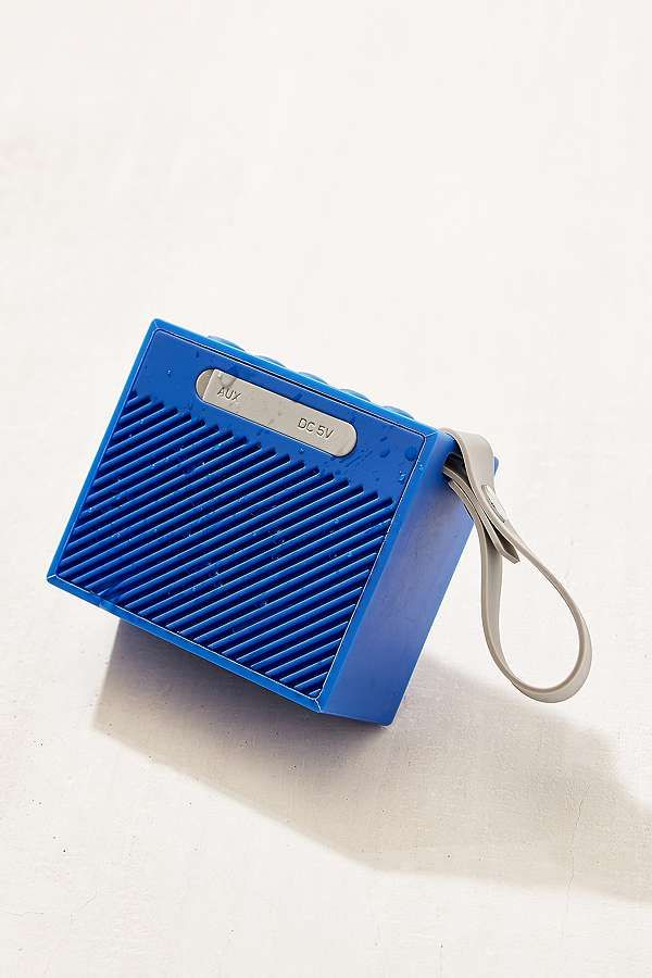 Slide View: 1: Mini enceinte bluetooth portative étanche bleue