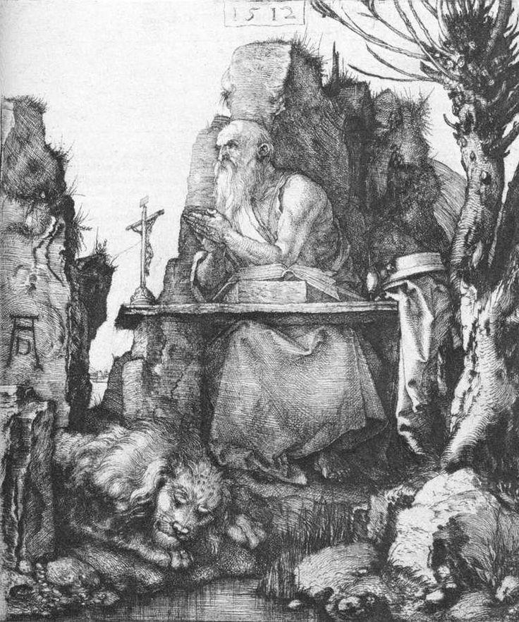 Άγιος Ιερώνυμος (1512) - Βελονογραφία