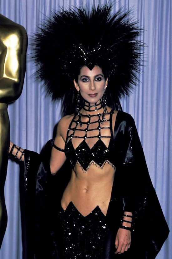 cher and her sexy wear 1986