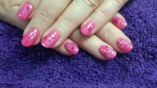 Pink with silver stamping