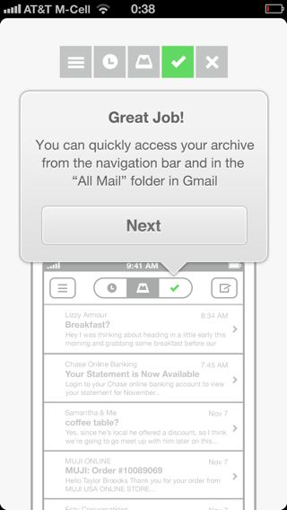 Mailbox iPhone walkthroughs screenshot