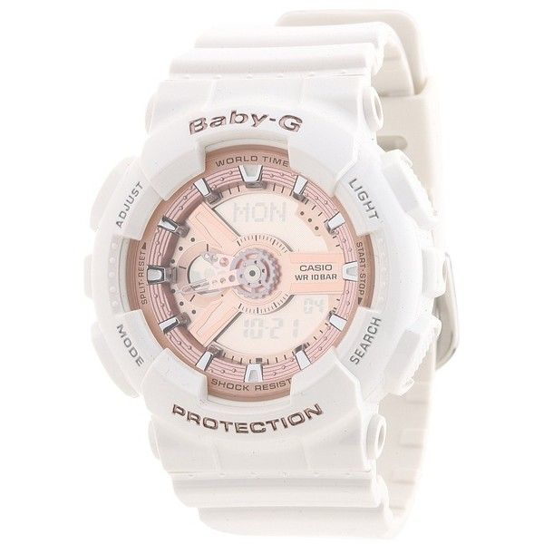 G-Shock Baby-G BA110 Watches ($120) ❤ liked on Polyvore featuring jewelry, watches, g shock wrist watch, military watches, military style watches, military fashion and military wrist watch