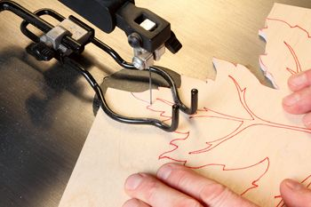 How to Use Red Ink to Make Scroll Saw Patterns Easier to See and Lay Out