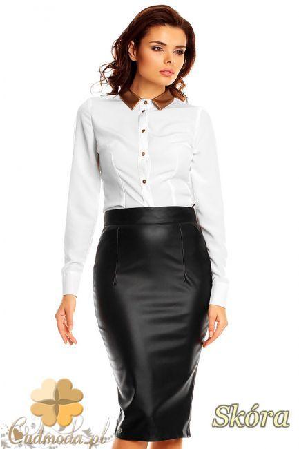 Skórzana spódniczka damska midi marki Karen Styl.  #cudmoda #moda #styl #ubrania #odzież #spódnice