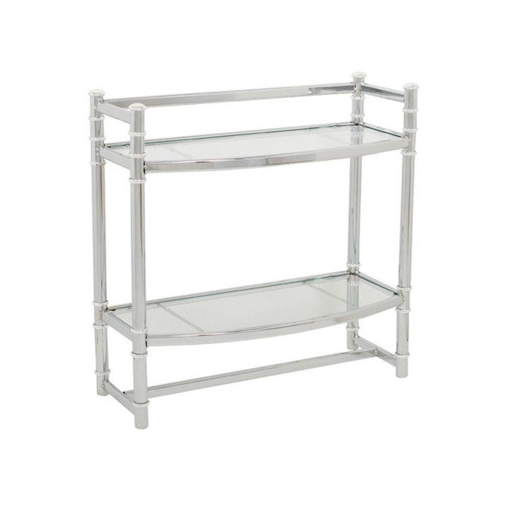 Zenna Home Wall Shelf with Tempered Glass Shelves - 15513591