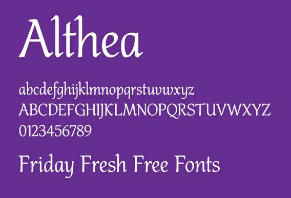 Fonte althea