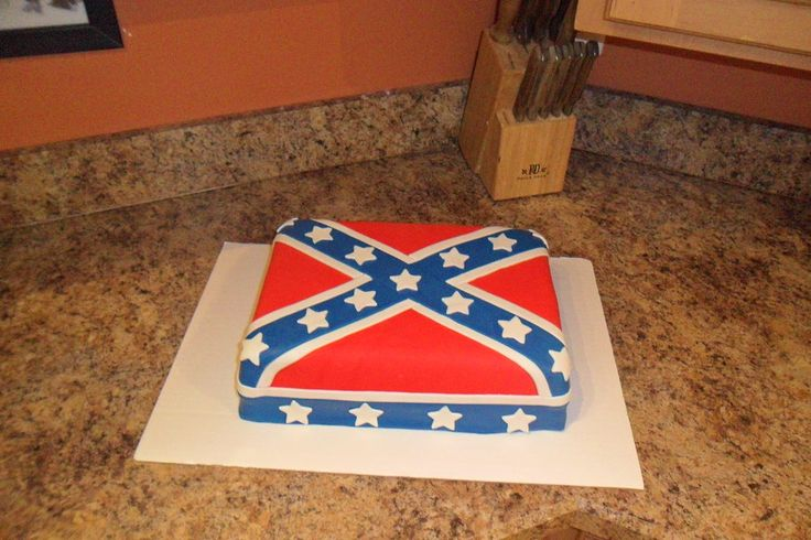 Confederate Flag Grooms Cake