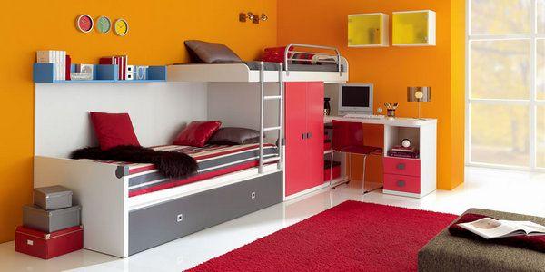 Camarote para niños con escritorio y cajones - Imagui