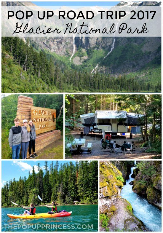 Pop up camping in Glacier National Park.  This was the best trip ever!