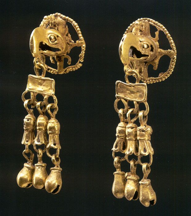 Aztec ear pendants
