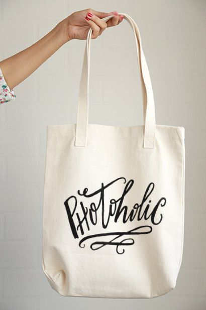 Photoholic Tote Bag $20 Photo Gifts for photographers - Click and Blossom