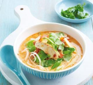 Chicken laksa | Australian Healthy Food Guide - I added extra Laska Paste for more flavour