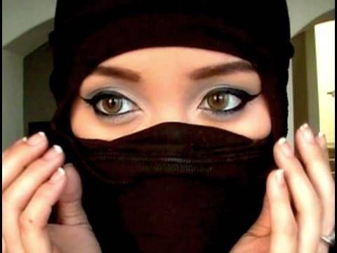 Fast and easy ninja mask for last minute Halloween costume.
