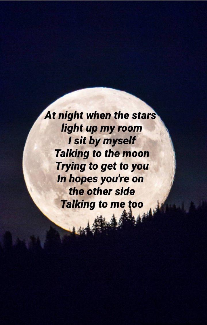 Talking To The Moon Bruno Mars Moon Quotes Moon Bruno Mars